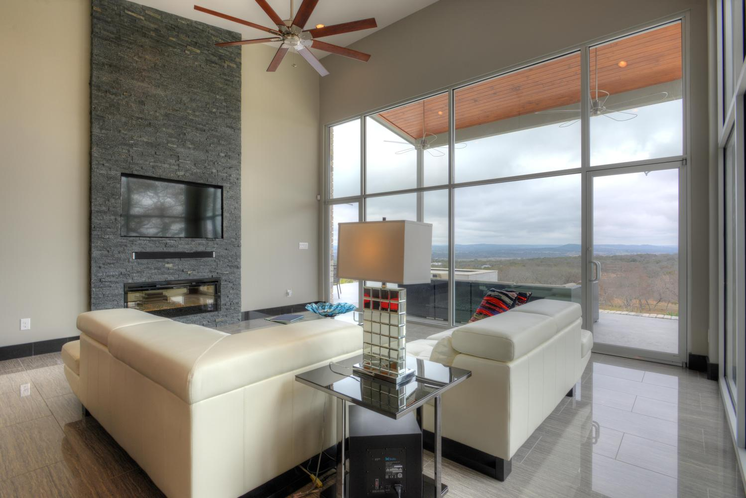 modern style custom living room san antonio tx