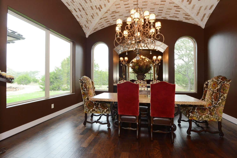 tuscan style custom dining room san antonio tx