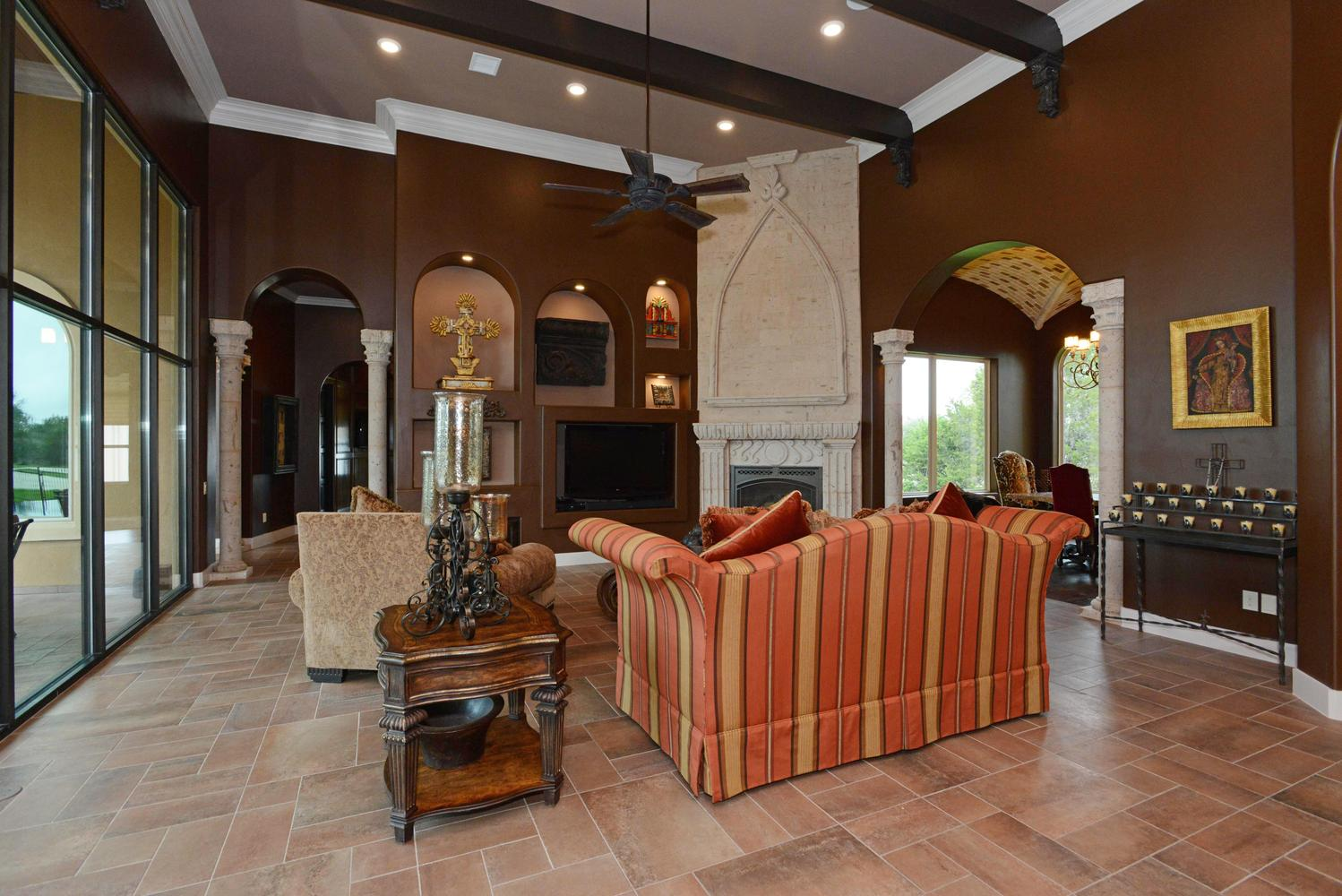 tuscan style custom living room san antonio tx