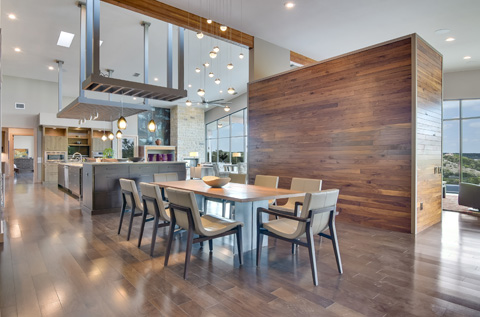 modern custom home dining room san antonio tx